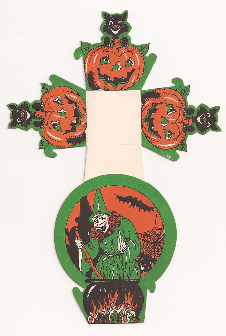 Vintage halloween paper decorations - Details About Vintage 1930 S Halloween Party Candy Nut Cup With Witch Bat Black Cat Jol