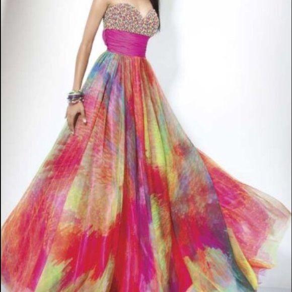 17 best ideas about rainbow prom dress on pinterest