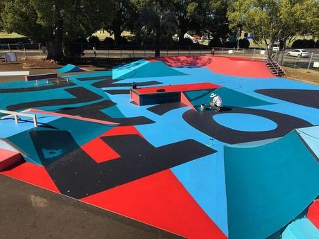 FALL DOWN GET UP: The Toowoomba skate park at Chalk Dr has been painted by Ian…