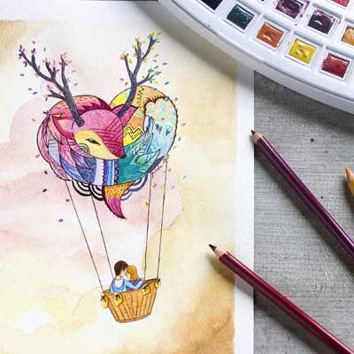 Encargo realizado con #acuarelas y #lapicesdecolores