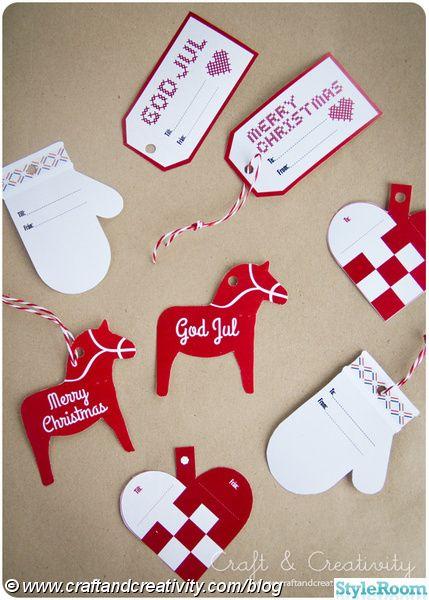 julpynt,julpyssel,etiketter,julklappsetiketter,ladda ned,skriv ut,julklappsinslagning