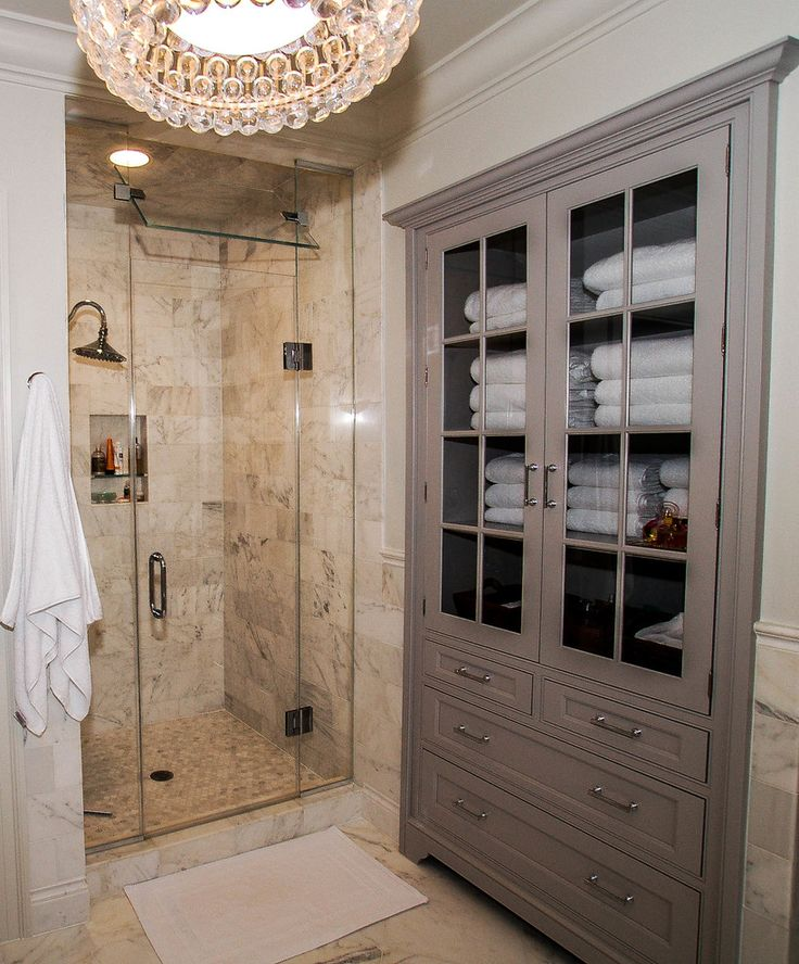 Inspired Linen Closet Method Dc Metro Traditional Bathroom Inspiration With Bathroom Cabinet Built In Glass