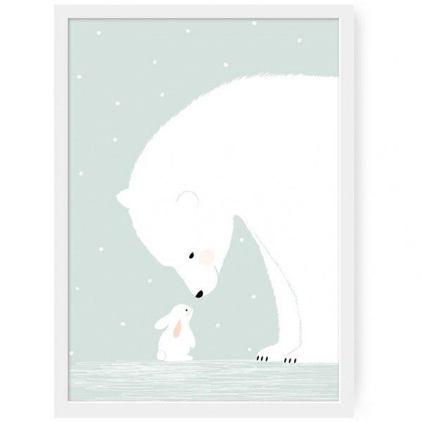 <p>Affiche Together imprimée sur du papier mat 170 grammes avec le ravissant dessin d'un ours polaire se penchant vers un lapin blanc, design Zü. Pour décorer votre chambre ou celle de votre enfant ! On aime la douceur qui se dégage de ce dessin.</p> <p><em><br /></em></p>
