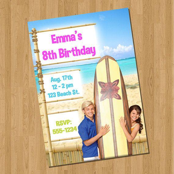 Teen Beach Movie Invitations