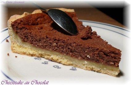 Cheesecake au cacao et poudre d'amandes