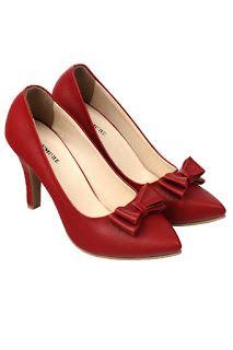 Jual sepatu wanita murah dan berkualitas: CLAYMORE Sepatu High Heels BB-702 Red