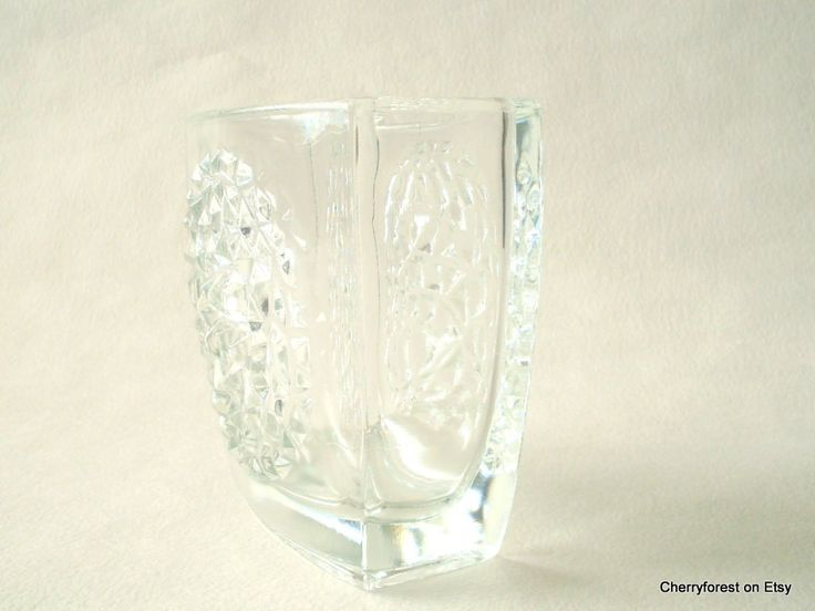 Sklo Union, Czech glass Jardiniére from Rudolfova Hut designed by Rudolf Jurnikl 1964 by Cherryforest on Etsy