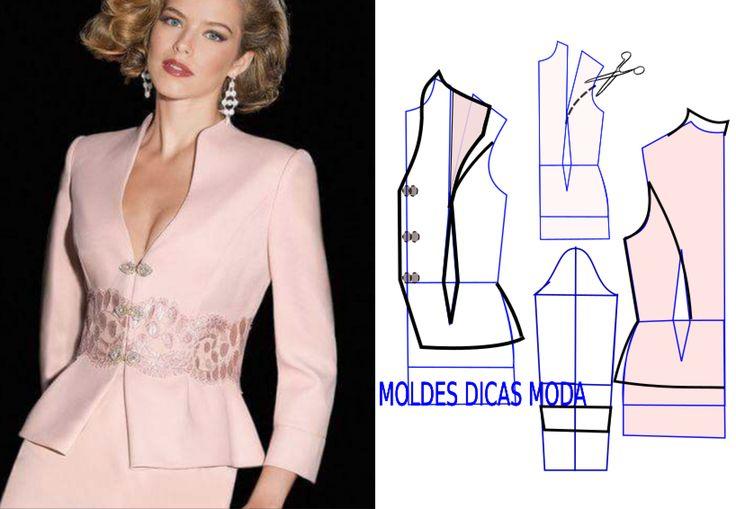 Observe e analise a transformação do molde casaco rosa que proponho nesta publicação com a devida atenção. No blogue existem bases de casaco larga...