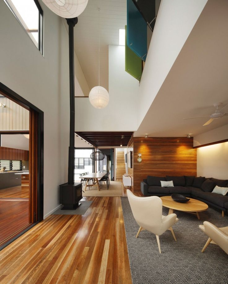 Like the recessed nook. Mooloomba House by Shaun Lockyer Architects