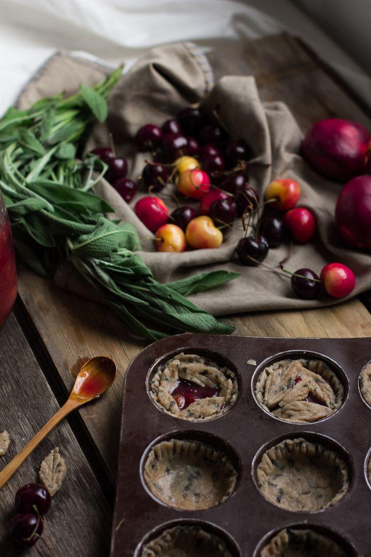 Cherry Nectarine Pies with Sage Spelt Crust — Engrained
