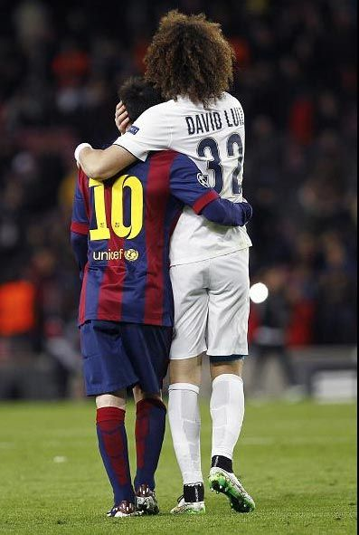 Messi et David Luiz | FC Barcelone - PSG