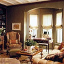 Bay Window Treatments Design, Pictures, Remodel, Decor and Ideas: Ideas, Romans Shades, Living Rooms Design, Bays Window Treatments, Interiors Design, Window Design, Roman Shades, Families Rooms, Window Covers