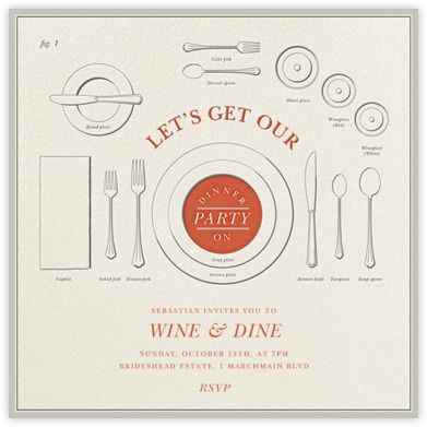 Eats and Etiquette - Paperless Post x Derek Blaberg