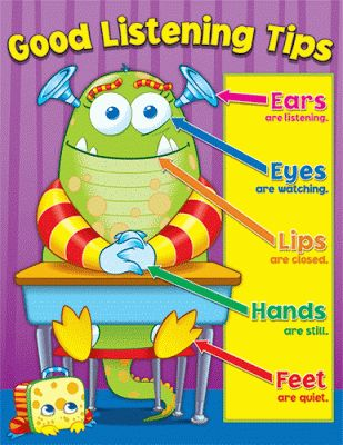 """Clutter-Free Classroom: Listening Look - classroom management series Another one from CFC...take a photo and make an anchor chart of kiddos doing the """"listening look."""" Whenever they start to get off task, they have a picture of themselves as a reference."""