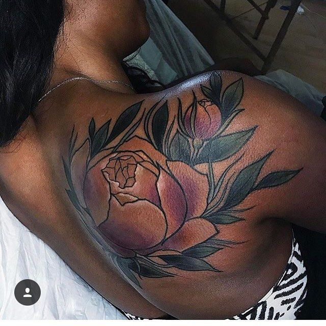 "668 Likes, 5 Comments - ♠️♠️Dark Skin Body Art♠️♠️ (@darkskinbodyart) on Instagram: ""Super saturated, bold, and hella clean, it's the work of @miryamlumpini ! #darkskinbodyart…"""