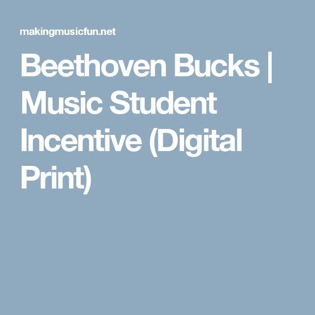 Beethoven Bucks | Music Student Incentive (Digital Print)