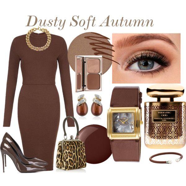 Dusty Soft Autumn by prettyyourworld on Polyvore featuring AX Paris, Dolce&Gabbana, Activa, Belk & Co., Michael Kors, Majorica, Kjaer Weis, Smashbox, Terry de Gunzburg and Charlotte Tilbury