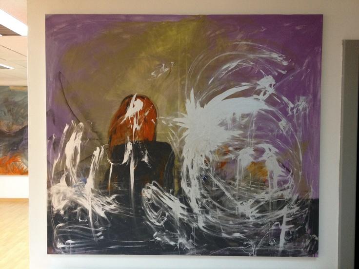 Acrílico sobre lienzo en bastidor de 2metros x 2metros. Mujer en la barra