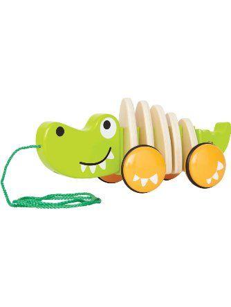 Hape - Walk-A-Long Croc Wooden Pull Toy ❤ Hape