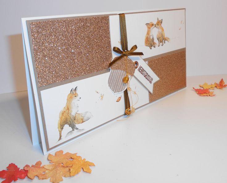 Eine Geburtstagskarte mit Fuchs für einen Jäger | Kleine Stempelmiez – Basteln aus Liebe