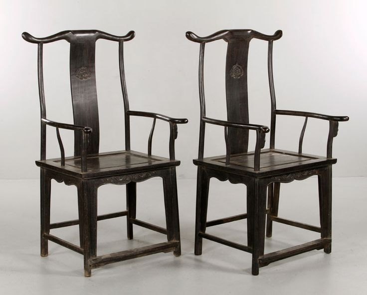 Pair Of Chinese Zitan Office Chairs Asian Collections Auction | Kaminski  Auctions 2/22 | Asian Art And Antiques | Pinterest