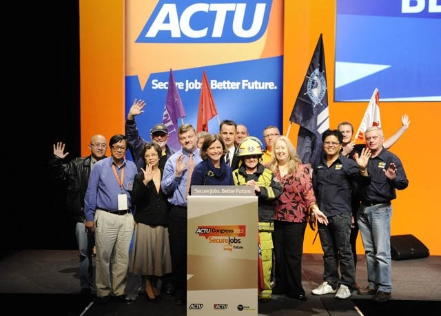 ACTU President, Ged Kearney, with some of the workers involved in the Inquiry into Insecure Work.