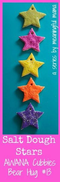 Salt Dough Twinkle Star Craft via Meaningful Mama. #preschool #kidscrafts #efl (repinned by Super Simple Songs)
