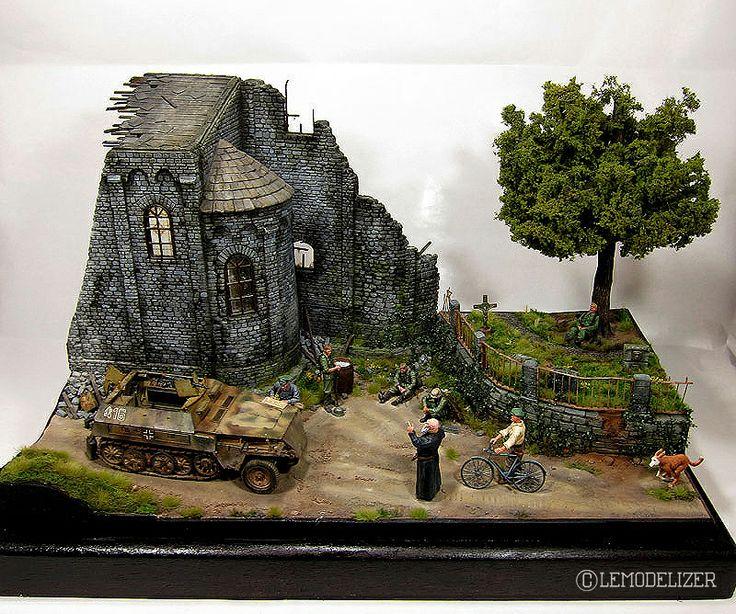 Pinterest Jungle Buildings: Ruined Monastery 1/35 Scale Model Diorama