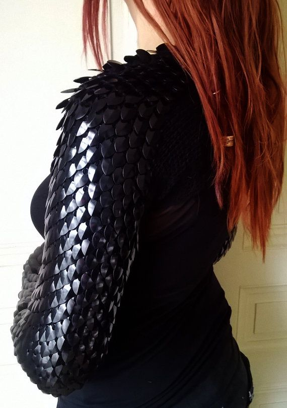 Obsidian Scales Shrug Made To Order By Silmarilclothing On
