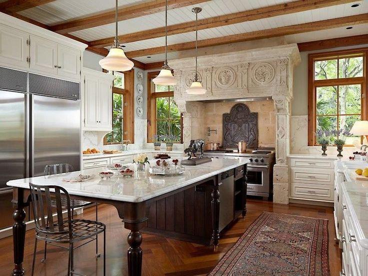 Fireplace mantel repurposed as range surround
