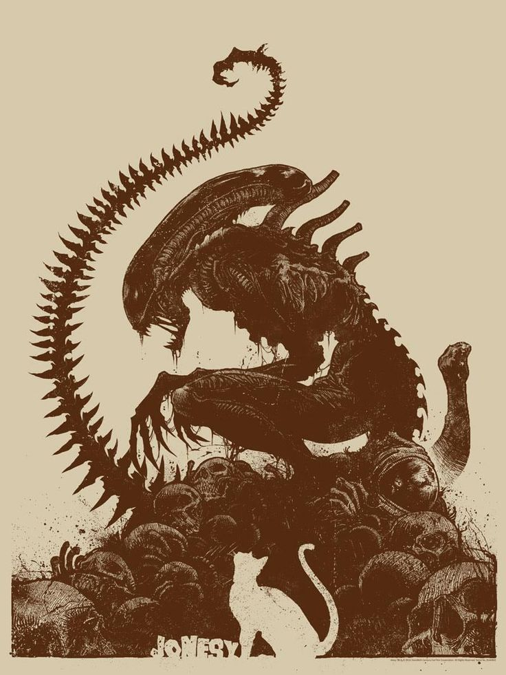 A Xenomorph Sits Atop a Pile of Skulls in New ALIEN Art — GeekTyrant
