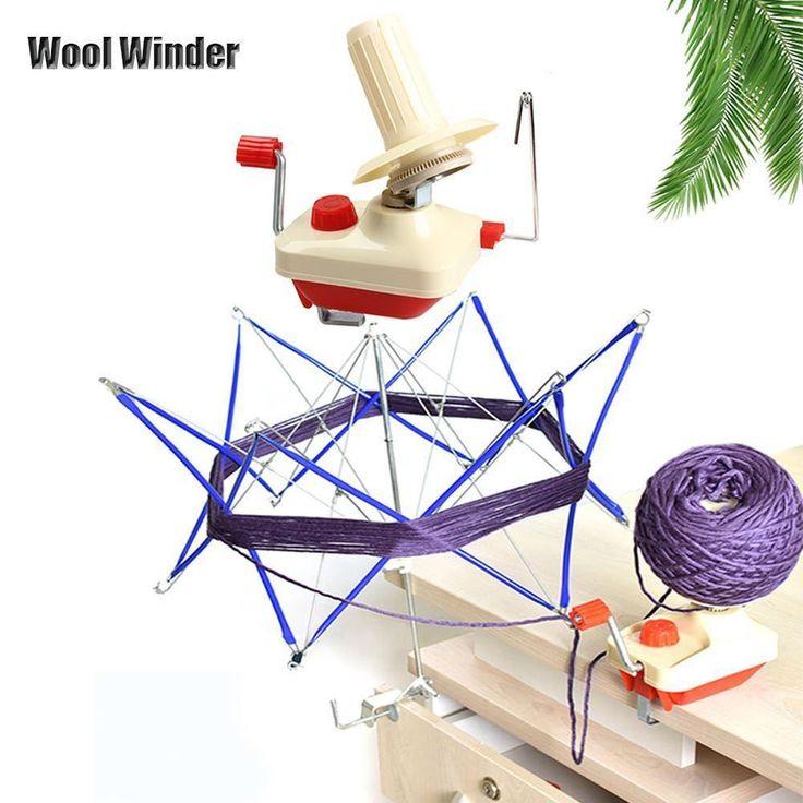 Neueste tragbar Handbetriebene Garn Wickler Wolle Schnürsenkel Faden Strang 15,90