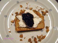 Κέικ με φυστικοβούτυρο και νιφάδες βρώμης