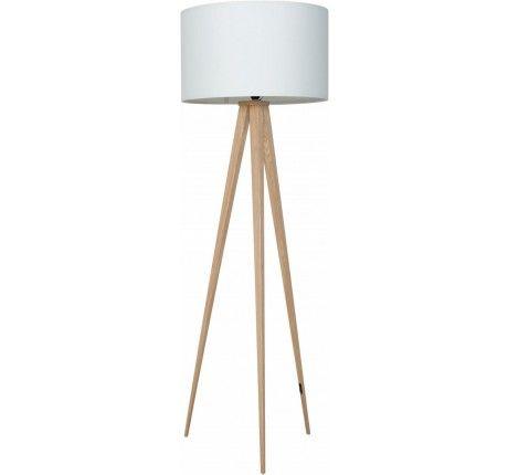 Zuiver Staande lamp Tripod hout/wit