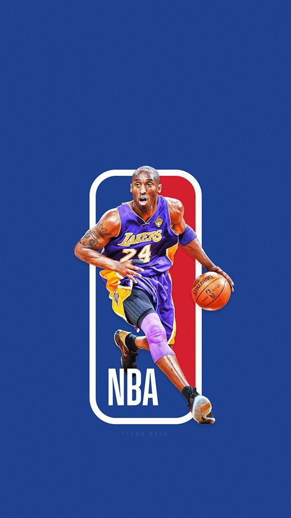 The Next Nba Logo Nba Logoman Series On Behance Kobe Bryant Wallpaper Lakers Kobe Nba Logo