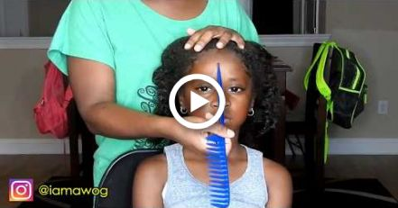 Quick & Easy 10 Min Sock Bun Hairstyle #2 | Kids Natural Hairstyle | IAMAWOG