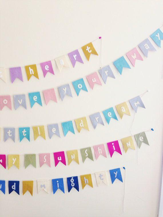 Nursery bunting - beautiful wall hangings by @mosey handmade