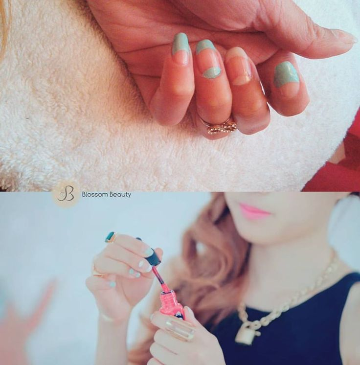 Facebook: Blossom Beauty  Nail art inspired APink Naeun Remember MV