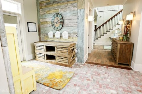 Light Multi Colored Shiplap In Entryway For The Home