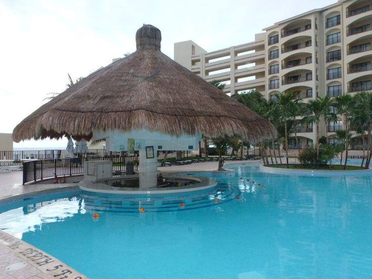 The Royal Islander pool bar in Cancun, Mexico