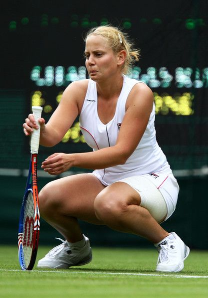The Championships - Wimbledon 2011: Day One In This Photo: Jelena Dokic Jelena Dokic of Australia in action during her first round match against Francesca Schiavone of Italy on Day One of the Wimbledon Lawn Tennis Championships at the All England Lawn Tennis and Croquet Club on June 20, 2011 in London, England. (June 19, 2011 - Source: Clive Brunskill/Getty Images Europe)