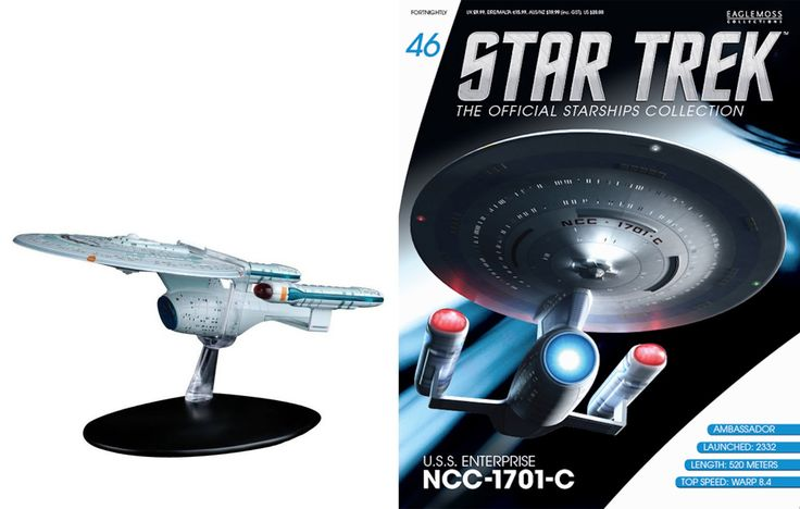 Eaglemoss Star Trek Enterprice C and Magazine