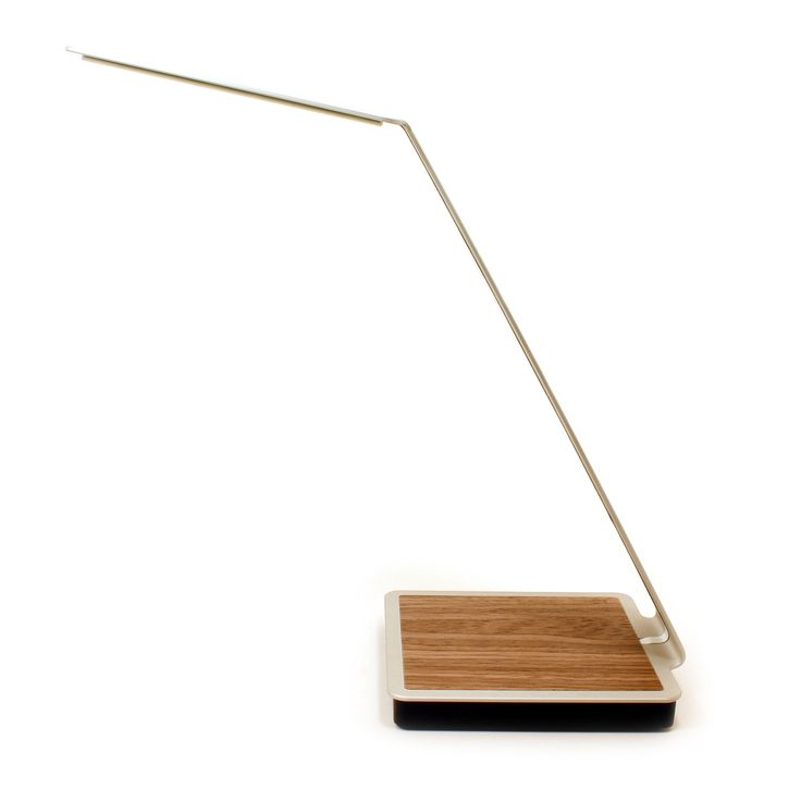 Aerelight A1 OLED Desk Lamp with Touch Control and Wireless Charging - Brushed Silver