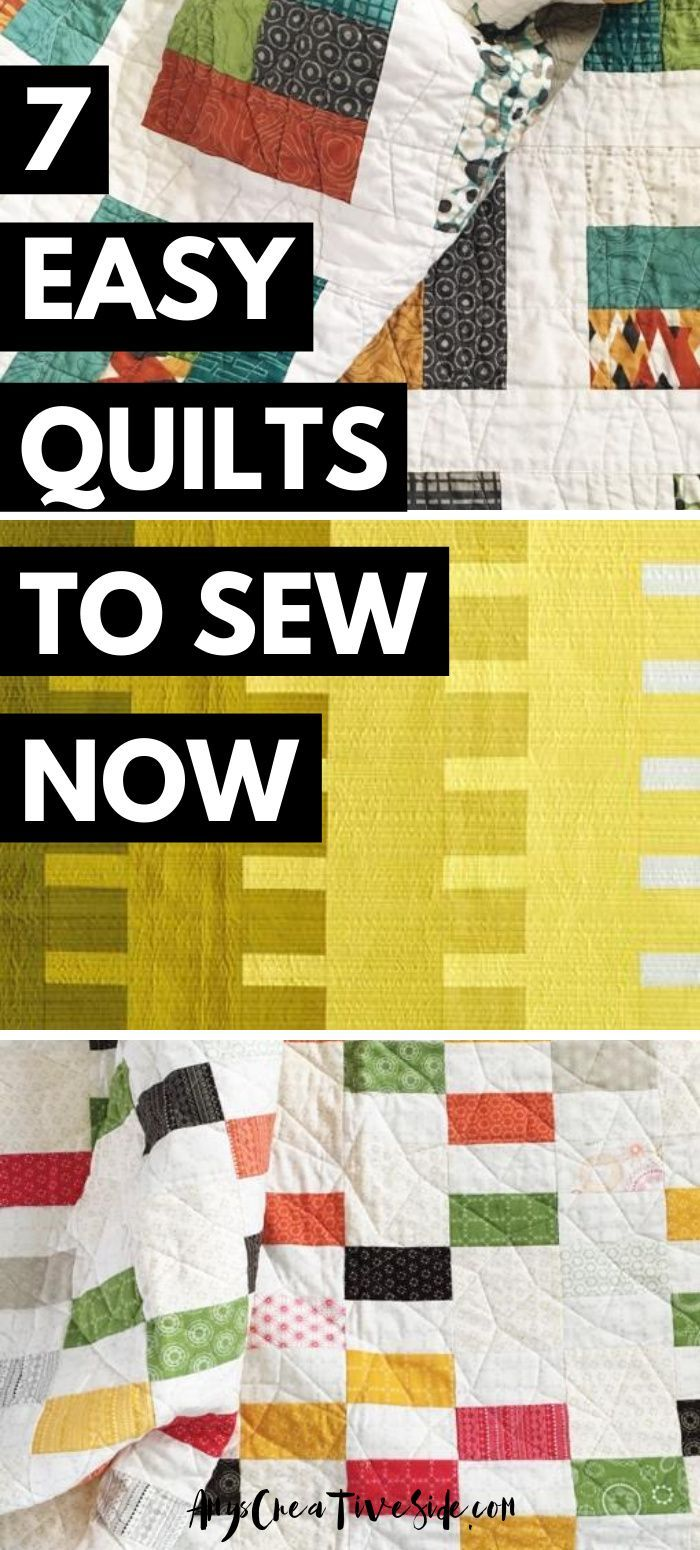 7 Easy Quilt Patterns To Sew Now In 2020 Easy Quilts Quilts Quilt Patterns