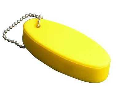 FLOATING KEYRING YELLOW – S28  Price includes 1 color, 1 position print   2 Color imprint available for an additional charge  Decoration option: Pad print  Print Size: 45mm x 20 mm  Product Size: 82mm x 36mm x 20 mm