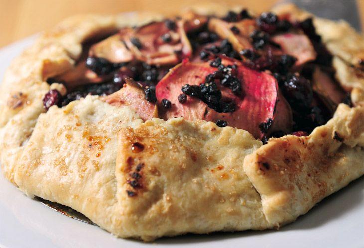 Cranberry pear galette | sweet | Pinterest
