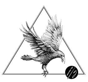 Illustration pour Tatouage sur-mesure: corbeau