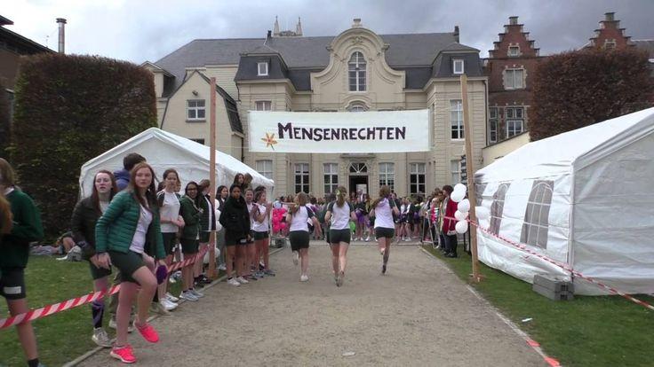 De leerlingen van Sint-Bavo Gent maakt een aftermovie van hun sponsorloop en projectdag.