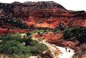 Caprock Canyons State Park and Trailway.  This is a surprisingly beautiful red-rock canyon in the Texas pan-handle. Loved camping here... less busy than Palo Duro Canyon, and more picturesque!