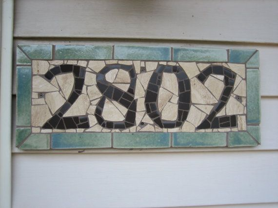 House number plaque.  I like the concept, but would do a different style.